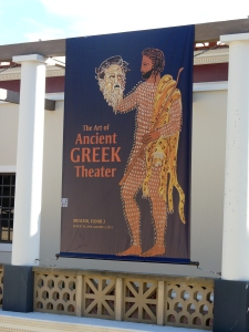 Poster for Greek theater presentation at Getty Malibu Roman Villa Museum