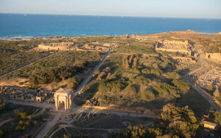 The Cardo or main thoroughfare through Leptis Magna down which Elektra was marched after being sold as a slave - photo by JasonHawkes.com published in The Telegraph Apr 03 2013