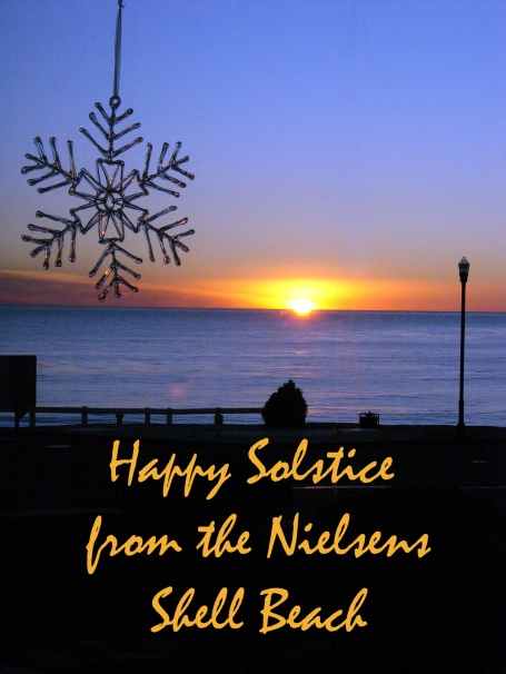Soltice greetings from me and my family in California. Here's hopes for a wonderful new year!