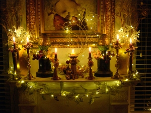 Christmas 2015 mantel nighte