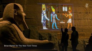 Color the Temple: Scene I The light projection project at the New York Metropolitan Museum Temple of Dendura