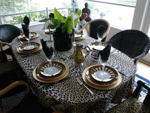 A leopard dinner to go with a wild meal.