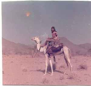 Mark Rankin, the very brave American who traveled with me on our hitchhiking adventure. Yes, sometimes on trucks and sometimes on camels.