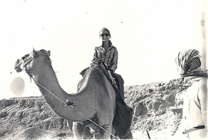Sandra on camel e