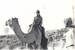 Sandra on camel e