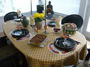 A simple Thanksgiving celebrated among an intimate foursome of friends.