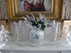 My January Ice Mantel tribute to crystalline purity.